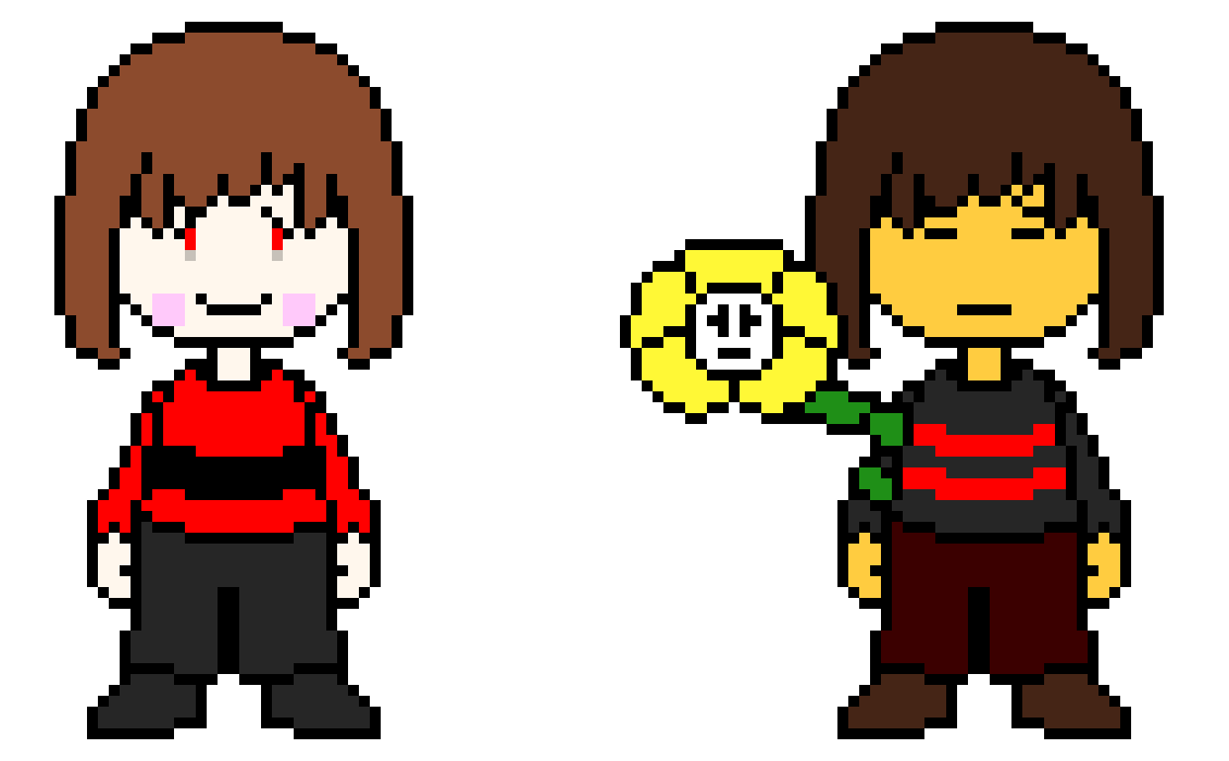 Underfell Chara and Frisk