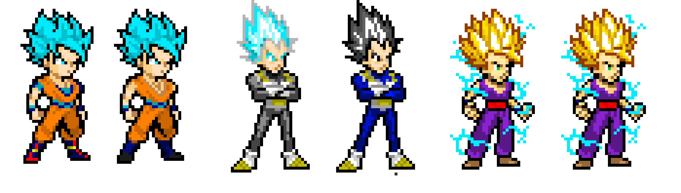 Fabuleux Dragon Ball Z Sprites (Re-Edited!) | Pixel Art Maker SW78