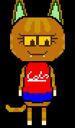 Animal Crossing New Leaf Katt Pixel Art Maker