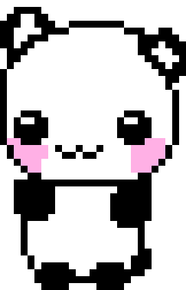 Kawaii Panda Pixel Art Maker