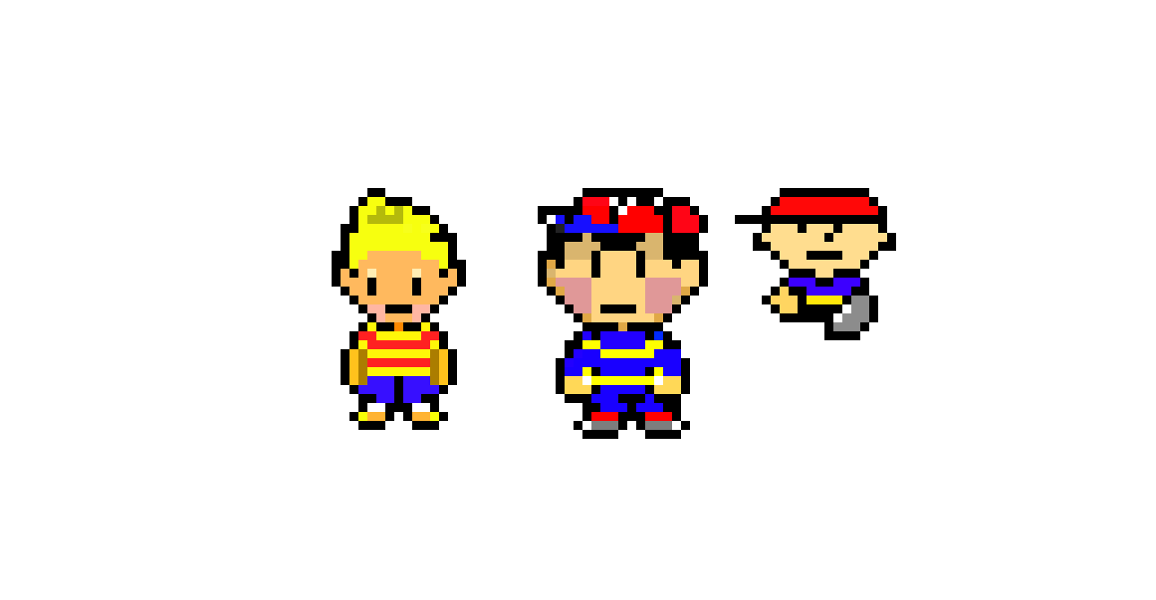 Lucas, Ness, and Ninten | Pixel Art Maker