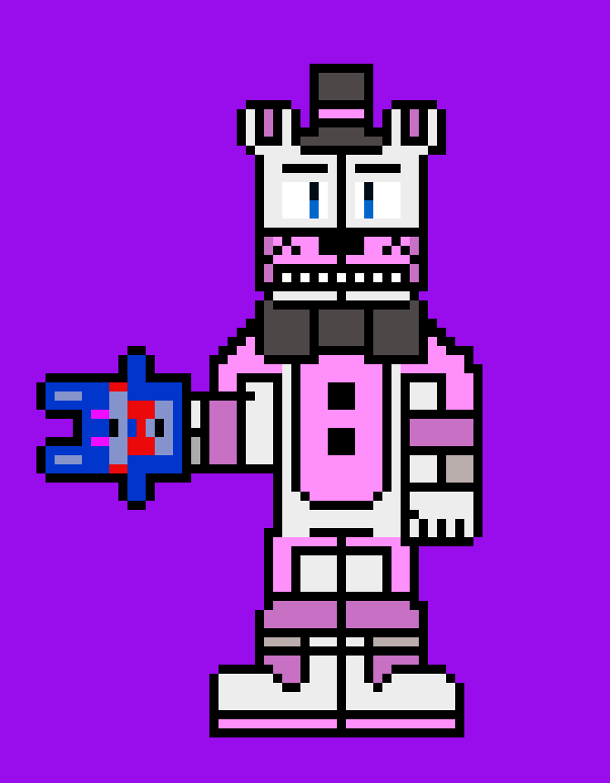 there should be a character that obtains dmg but if they get too much they lose their own. - funtime freddy & bon bon & bonett