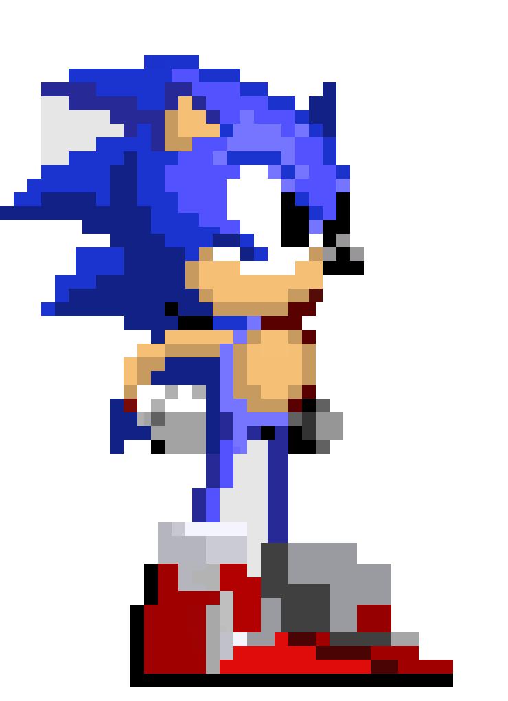 Sonic The Hedgehog   Pixel Art Maker