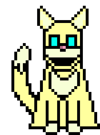 The cat is about the size of half the Core in undetale