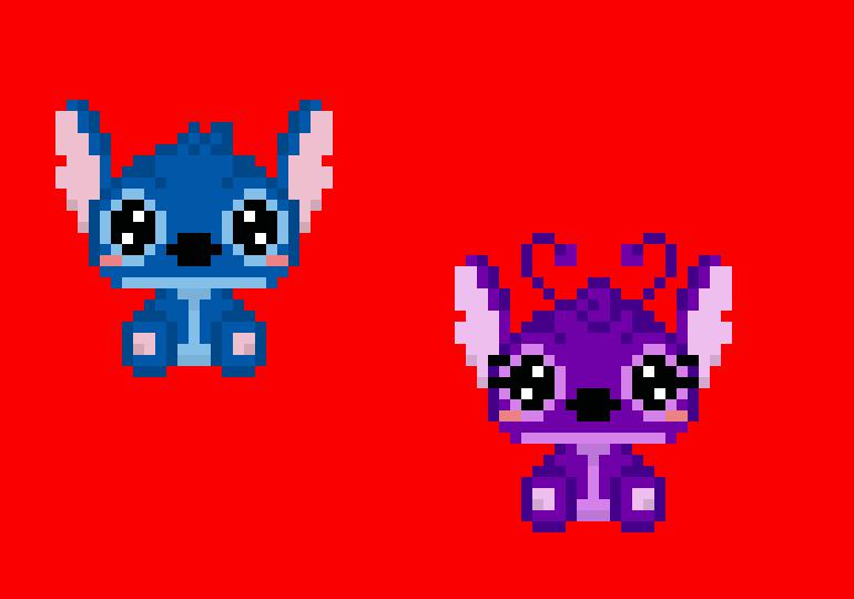 Stitch Girlfriend Pixel Art Maker