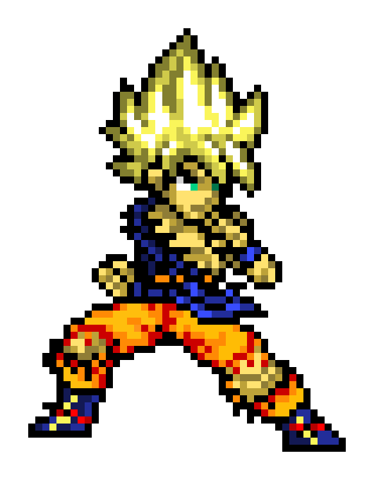 Super Saiyan Goku Pixel Art Maker