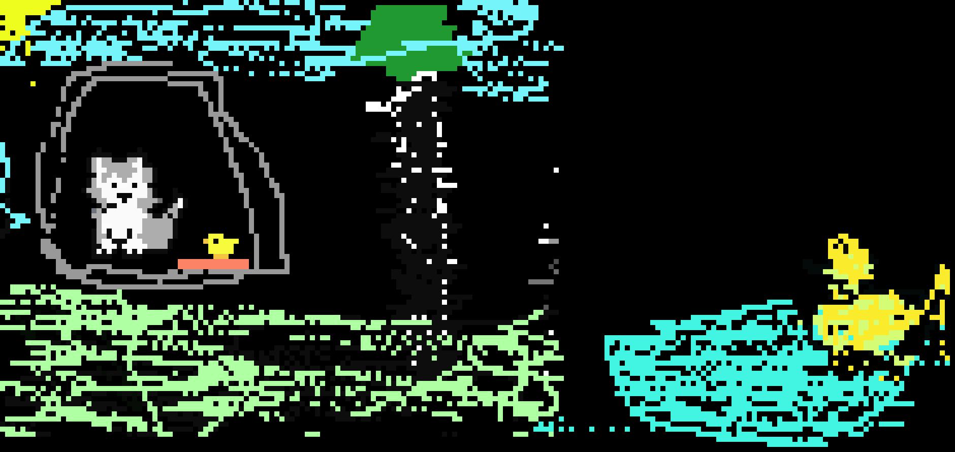 piper wolf pup duck | Pixel Art Maker