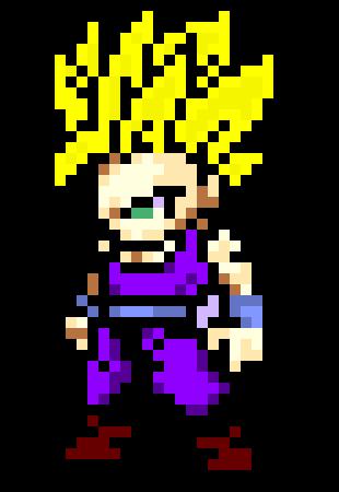 Ssj Gohan Pixel Art Maker
