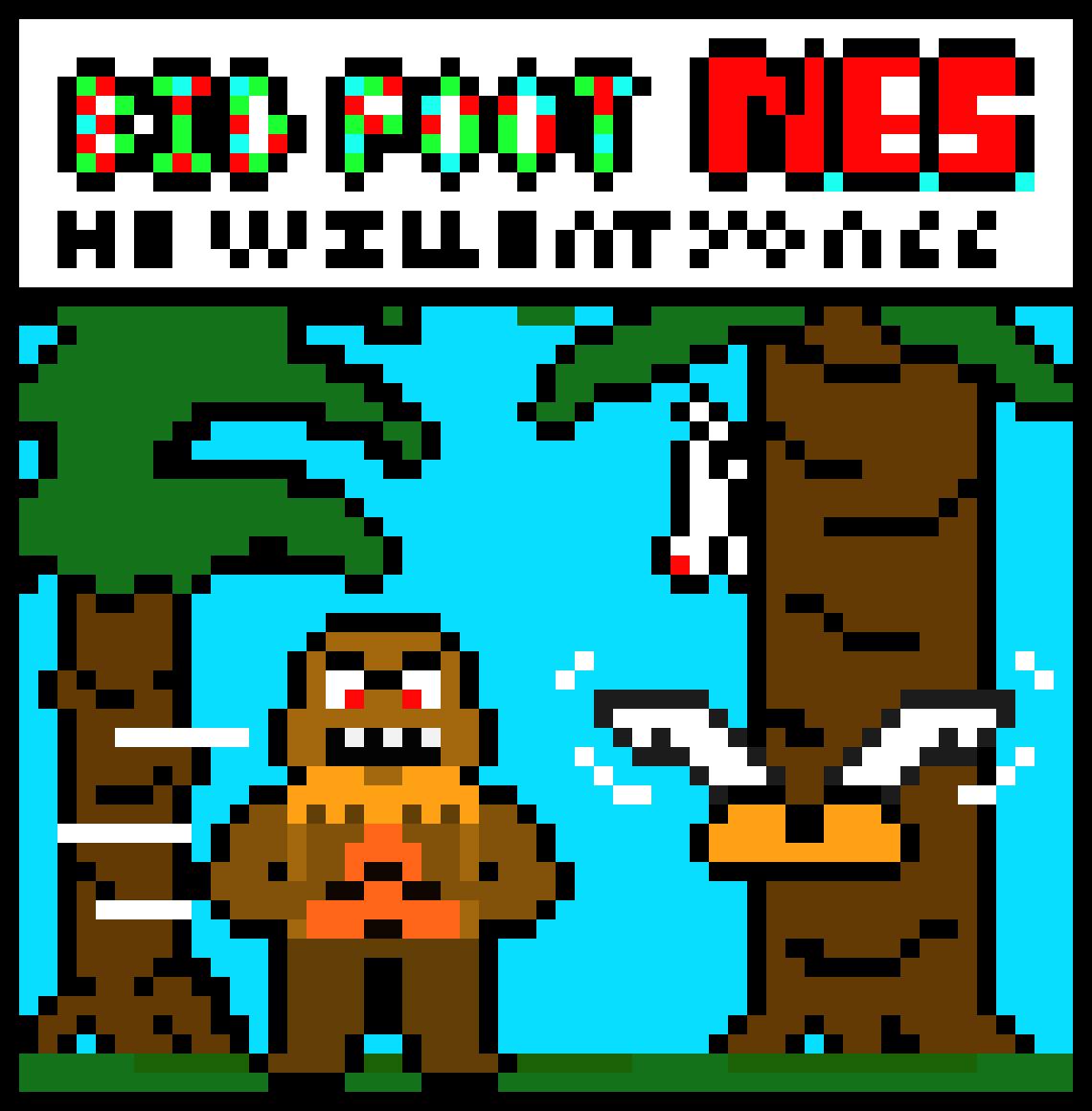 Bigfoot Nes Pixel Art Maker