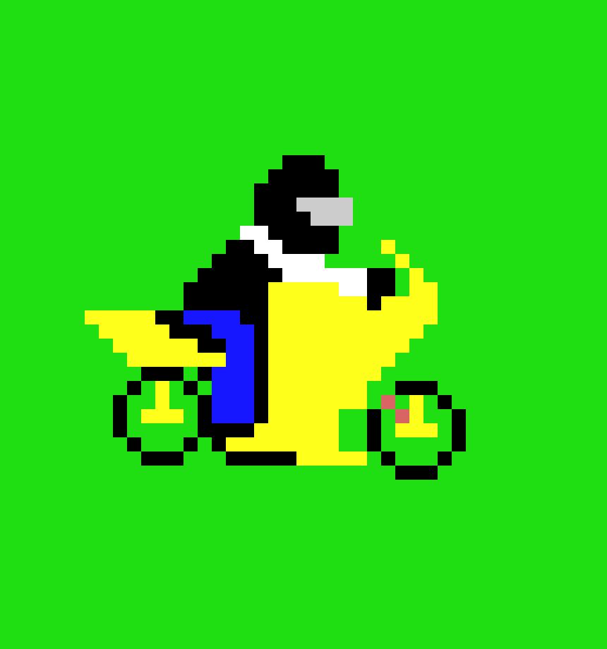 Cool Suzuki Motocross Bike Pixel Art Maker