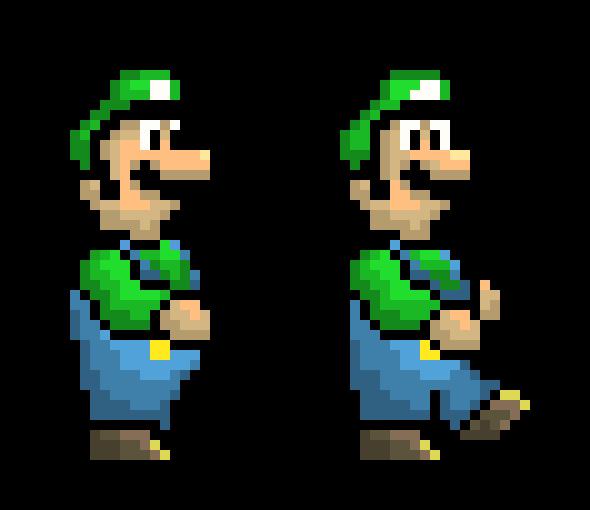 Luigi walk sprites | Pixel Art Maker