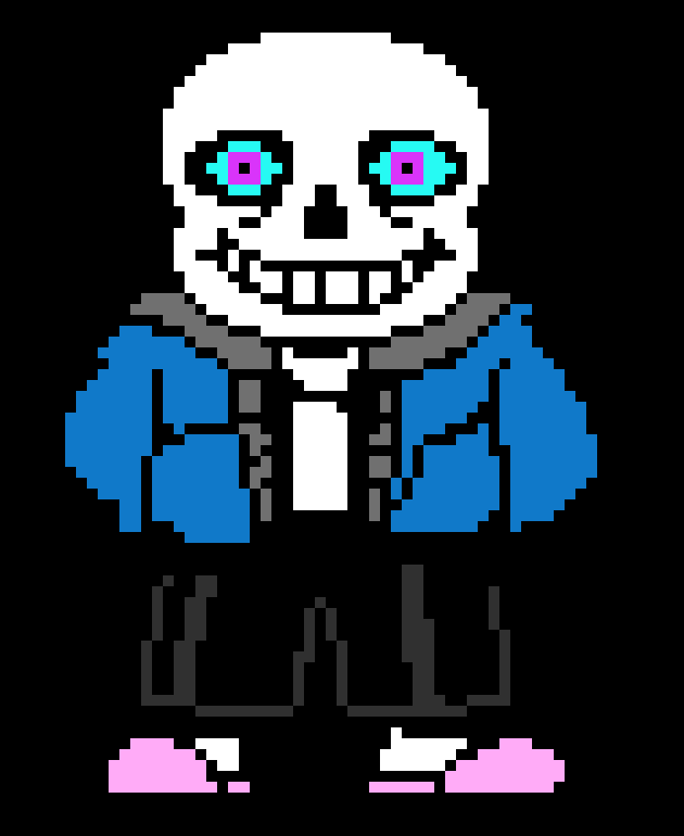 glitch tale sans without hood