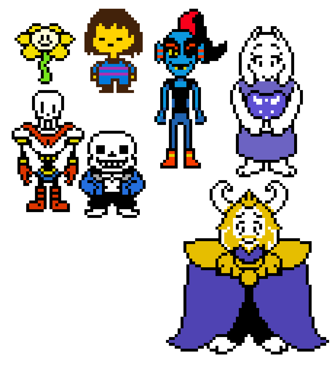 some sprite from undertale fill free to use | Pixel Art Maker
