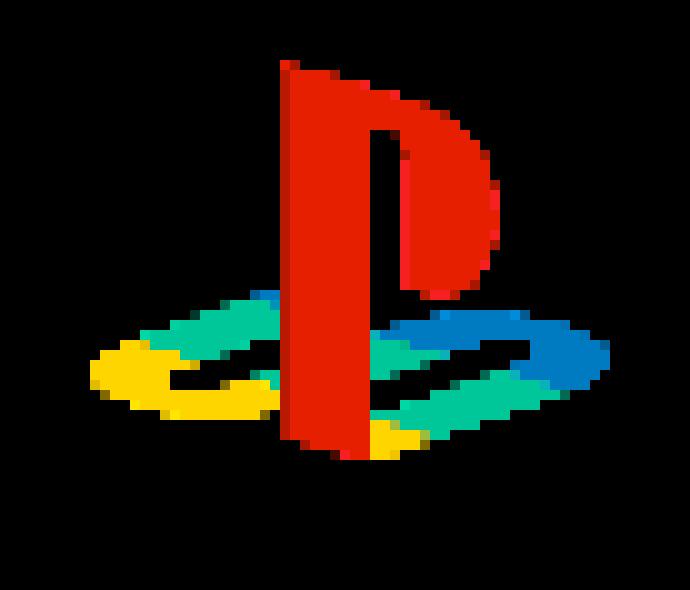PlayStation 1 Logo Pixelated