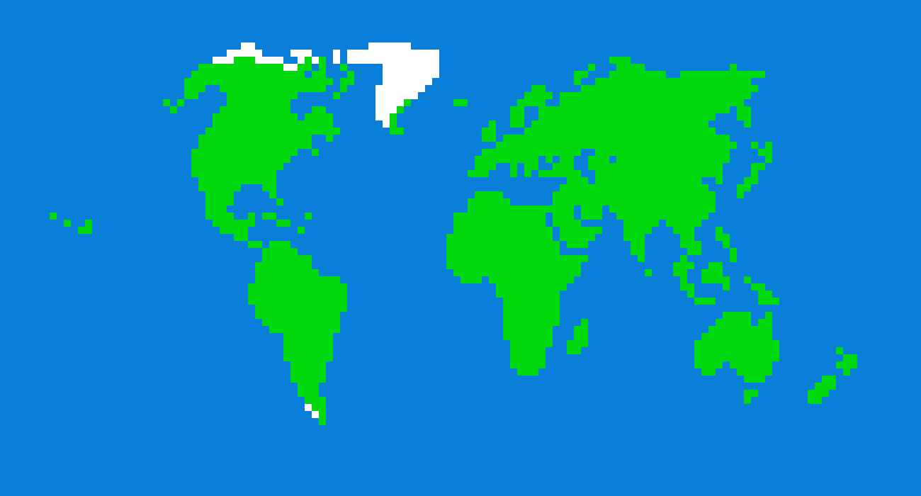 Pixel map of earth Sprite