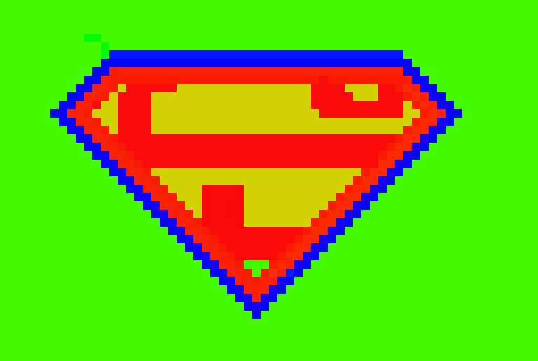 Superman Logo2 Pixel Art Maker