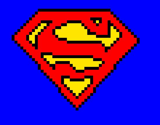Superman Logo Pixel Art Maker
