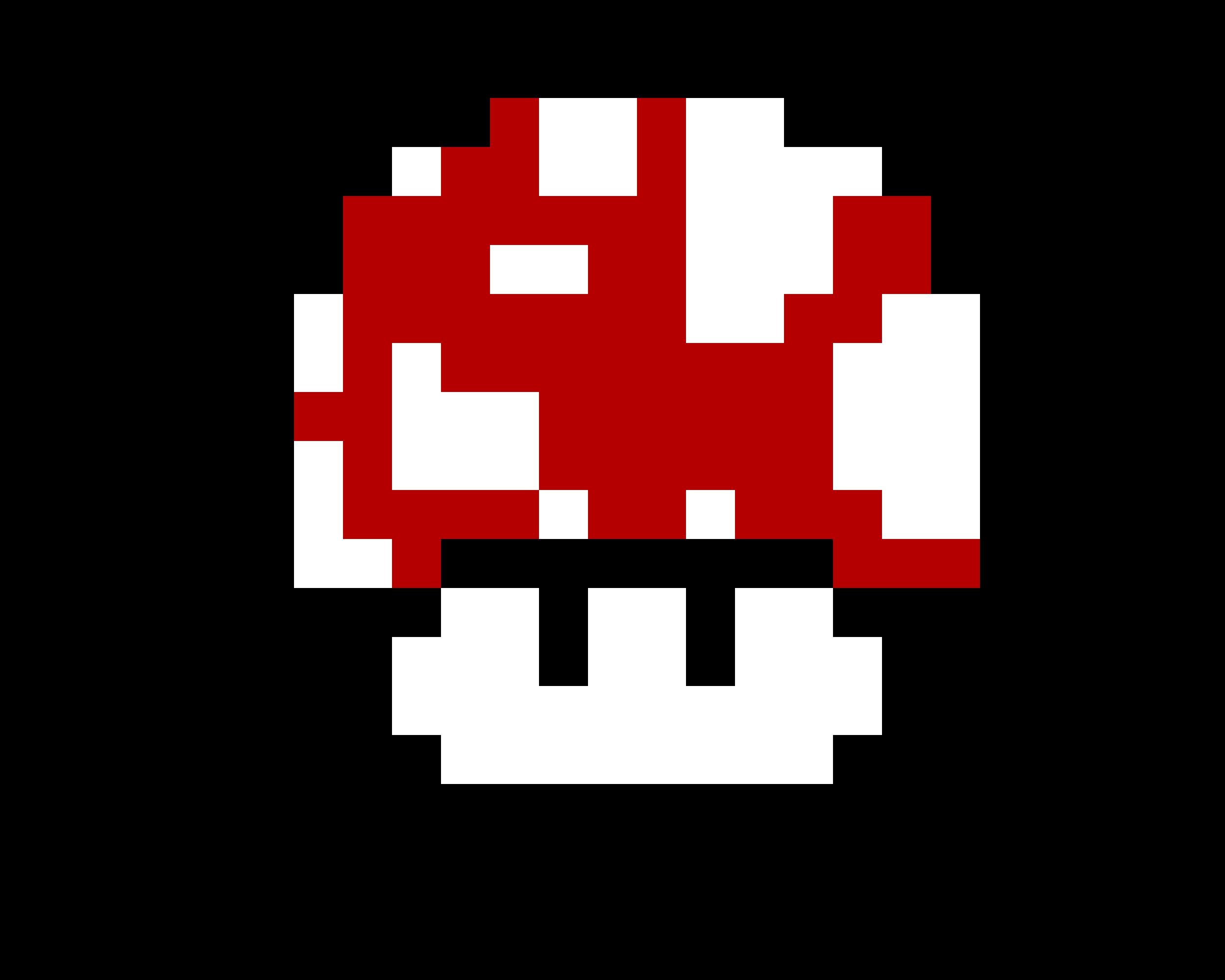 mario mushroom pixel art