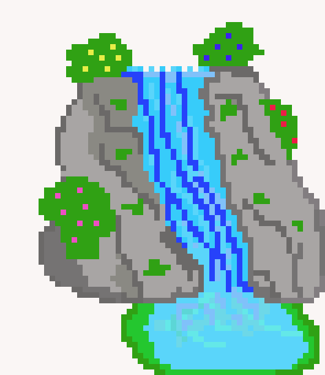 Trends For Pixel Art Waterfall @KoolGadgetz.com