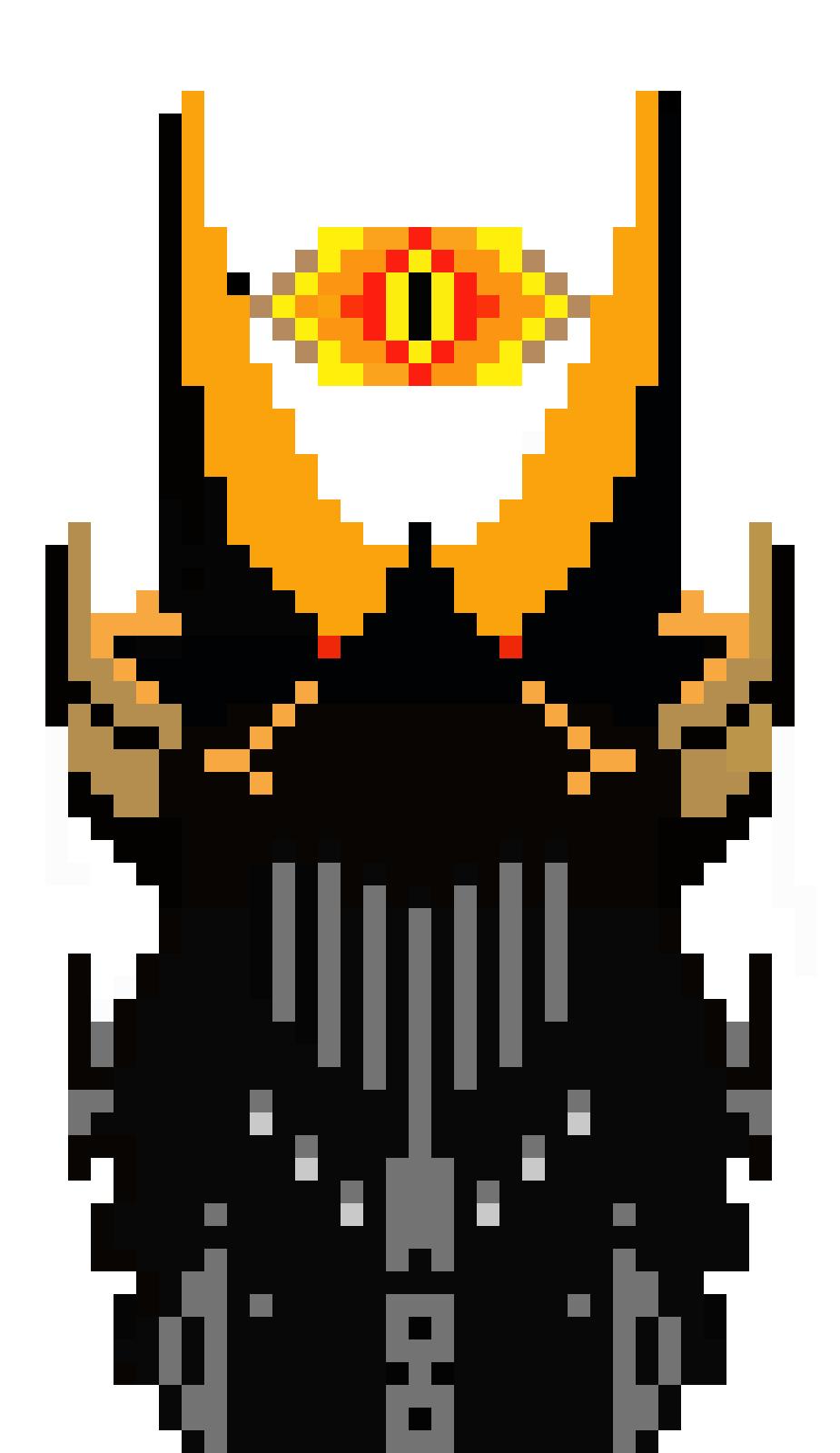 Top Of Barad Dur Pixel Art Maker