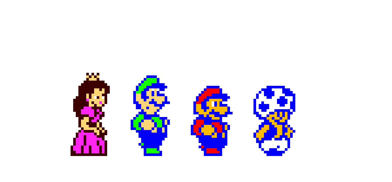 Super Mario Bros 2 Pixel Art Maker