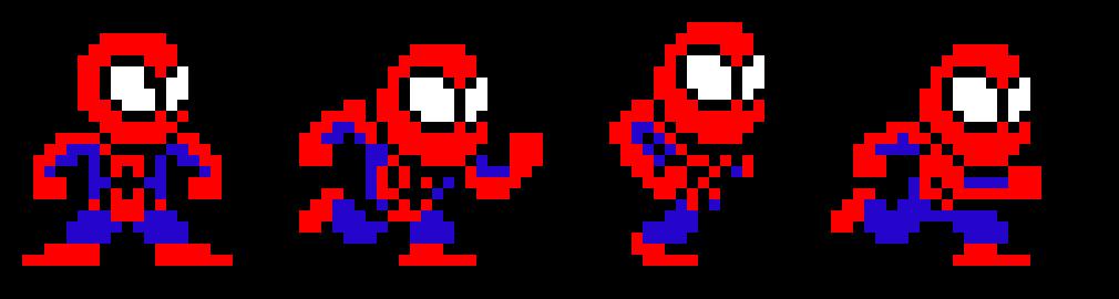 Spiderman Spritesheet Pixel Art Maker
