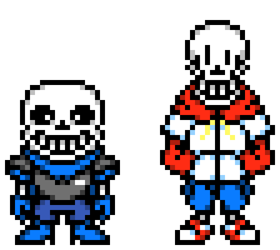 Team Switched UnderSwap Sans And Papyrus