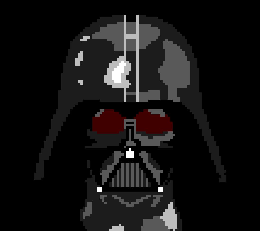 Darth Vader Mask Pixel Art Maker