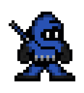 Blue Ninja Pixel Art Maker