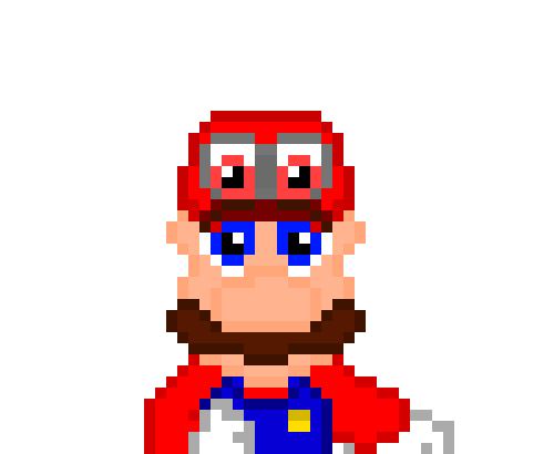 Super Mario Odyssey Pixel Art Maker