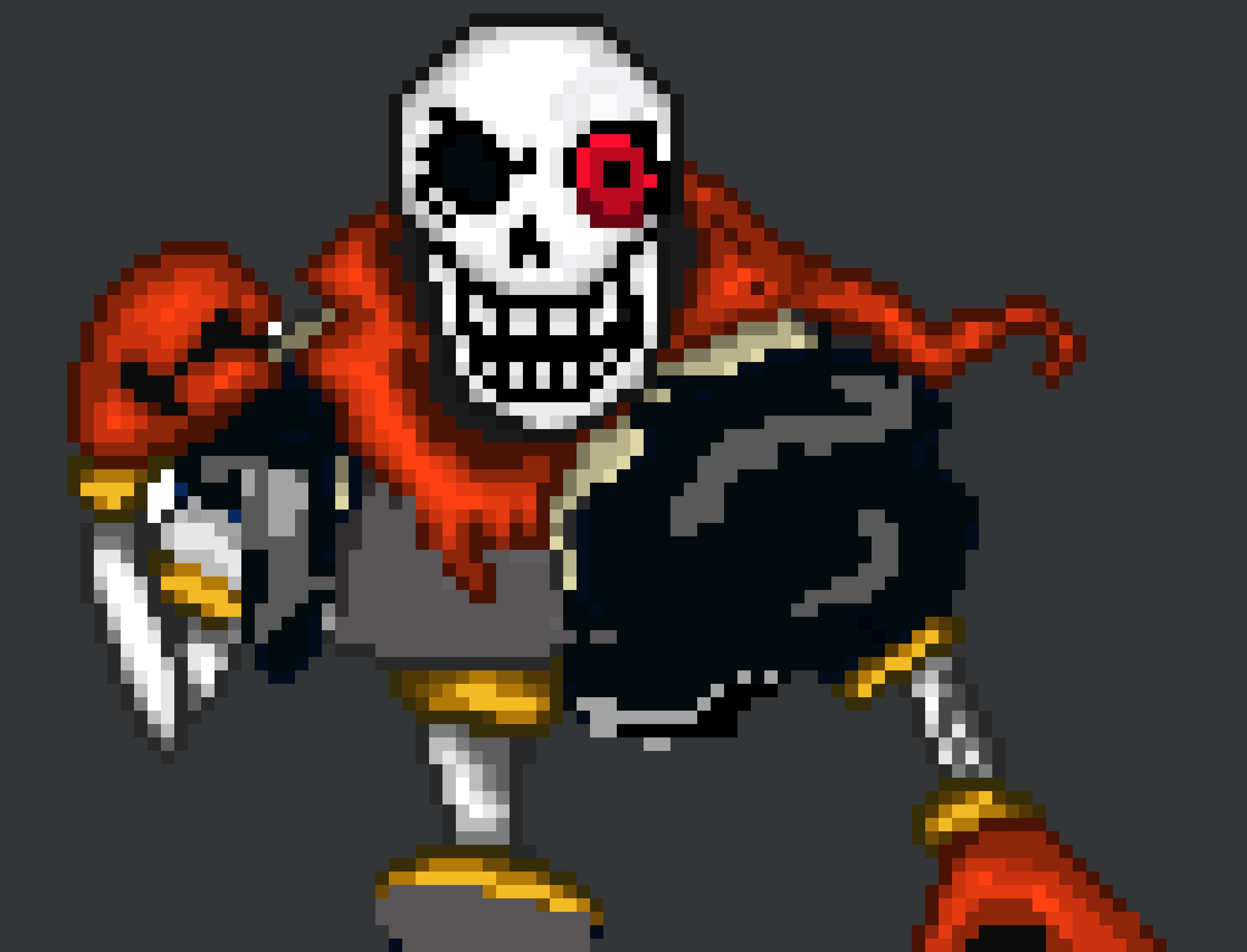 Disbelief Underfell Papyrus HD | Pixel Art Maker
