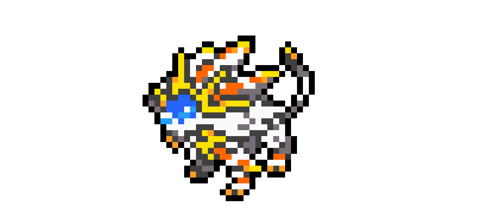 Solgaleo Box Sprite Pixel Art Maker