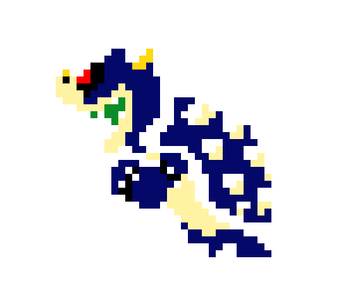 Dark Bowser Super Mario Bros Pixel Art Maker