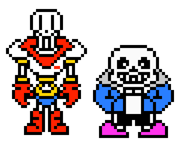 Sans And Papyrus Pixel Art ---Pixel Art Maker | Pixel Art Maker