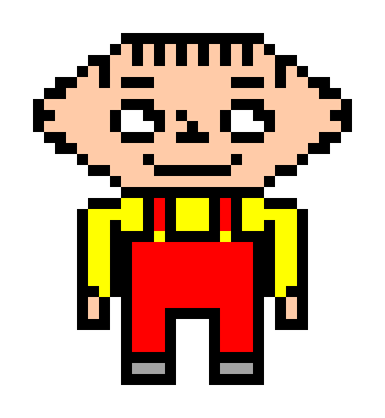 Stewie Griffin Pixel Art Maker