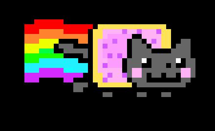 neon cat pixel art | Pixel Art Maker