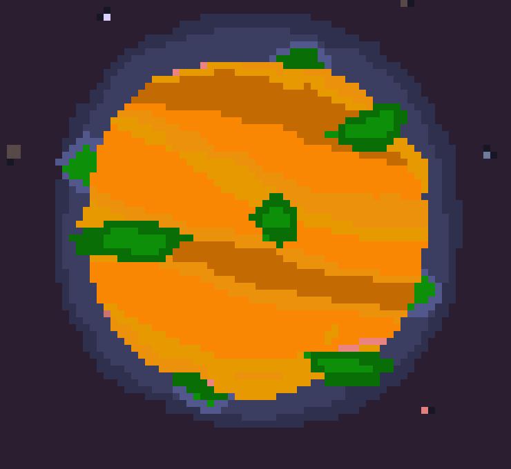 16 bit pastel planet