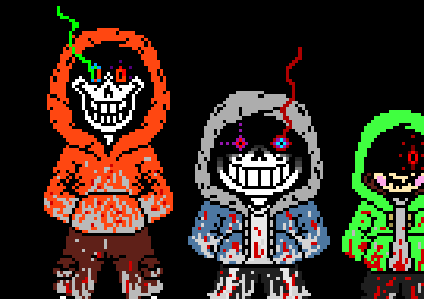 MAD Time Trio...Sans Papyrus and Chara