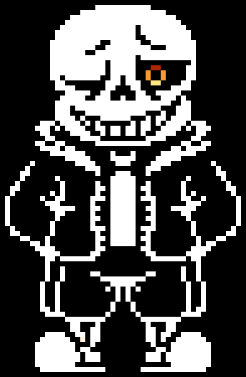 Sans, but his eye is the black hole.