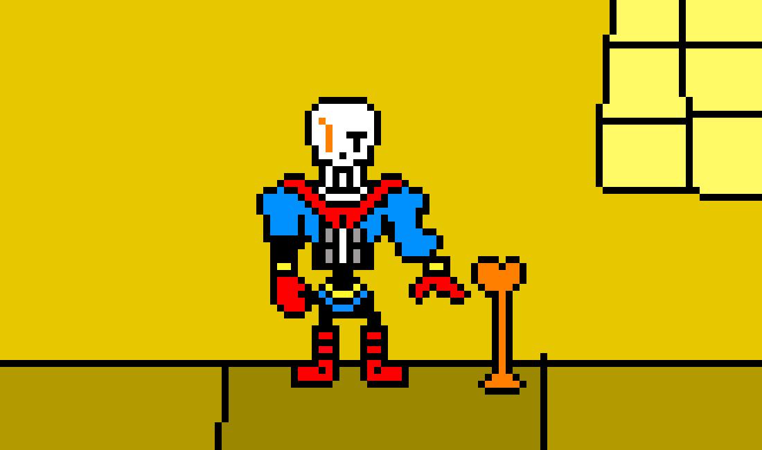disbelief Papyrus Battle Sprite   Pixel Art Maker