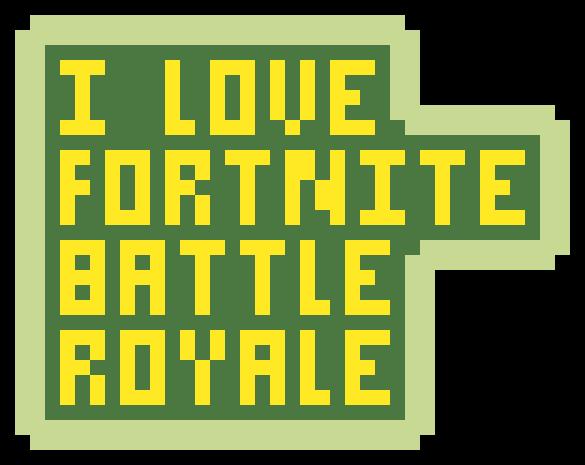 I Love Fortnite Battle Royale Pixel Art Maker