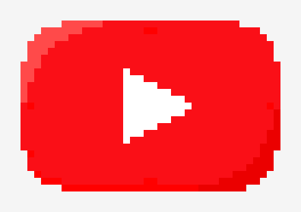 Pixelized YouTube Logo | Pixel Art Maker