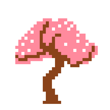 Cherry Blossom Tree Okami Sprite Pixel Art Maker