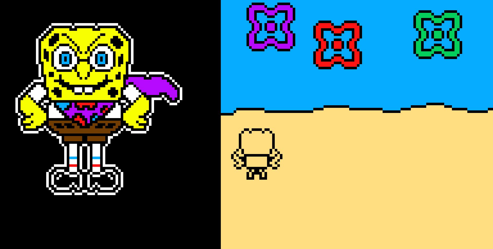 Spongebob Colored Sprite Spongetale Pixel Art Maker