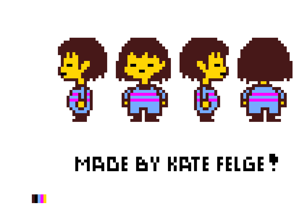 frisk sprite sheet no walking sprites pixel art maker