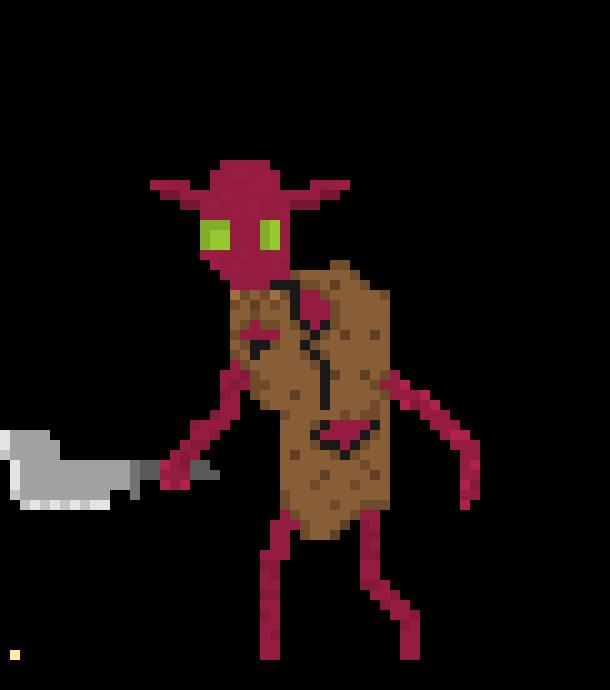 Goblin Rough Sketch Pixel Art Maker
