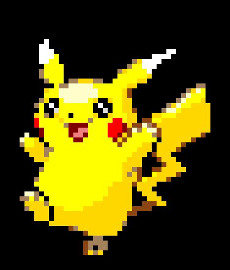how to build pikachu pixel art