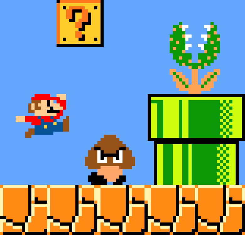 Mario Bros Custom Stage Pixel Art Pixel Art Maker