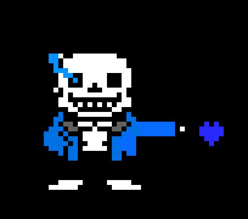 UnderTale - Sans sprite sheet(isaac) | Pixel Art Maker