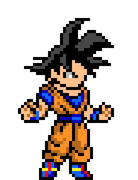 Son Goku | Pixel Art Maker